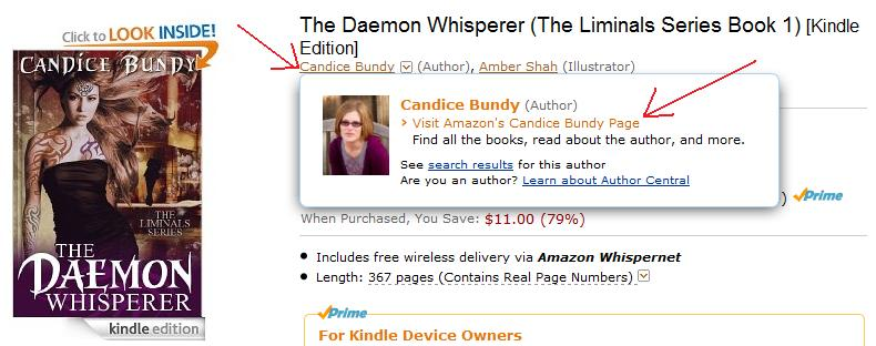 Browse to Author Page on Amazon